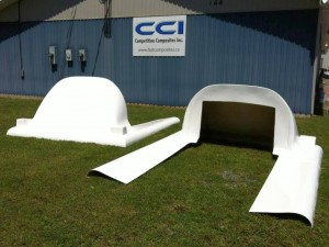Fiberglass truck fairings by CCI