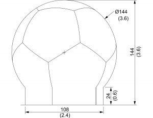 12 foot spherical radome