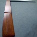 Old-School Shark rudder in solid teak