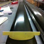 high temperature BMI prepreg parts - checking against template